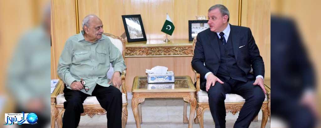 سفیر ایتالیا: روابط دو کشور پاکستان و ایتالیا متعادل هستند