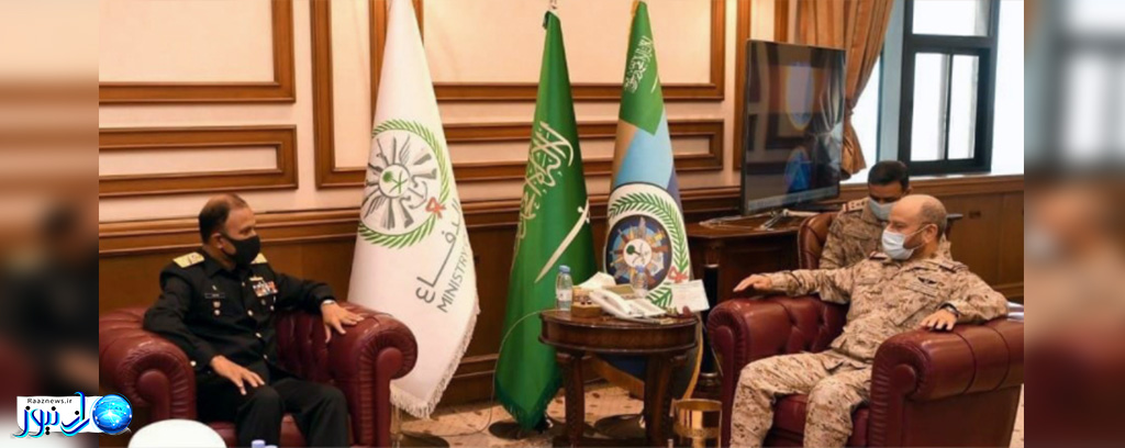 دیدار فرمانده نیروی دریایی پاکستان با همتای عربستانی خود و رئیس ستاد کل نیروهای مسلح عربستان سعودی