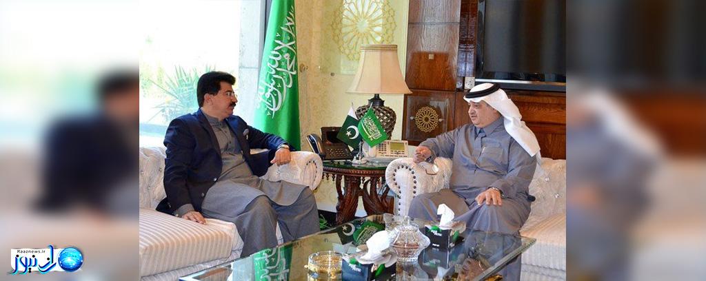 رایزنی رئیس مجلس سنای پاکستان و سفیر عربستان سعودی درباره همکاری های دوجانبه